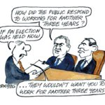 RT @StanSteam2: How did the public respond to working for another 3 years? Ron Tandberg cartoon #auspol #Pensions http://t.co/DUYTXwxiHI