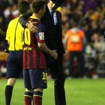 Cristiano Ronaldo with Lionel Messi after the final whistle. http://t.co/GH19CBgCa1