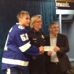 RT @TampaPD: Chief Castor accepted a $50,000 check tonight from @TBLightning to help fund TPDs community outreach efforts. http://t.co/F7BxWHS7hI