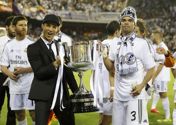 """@Cristiano y @officialpepe"" #CampeonesCopaDelRey #HalaMadrid  http://t.co/BPKLvnfLpV"