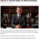 RT @The_Shovel_: Barry OFarrell Back To Work Already #auspol http://t.co/kwQ5bFwGD2