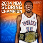 RT @KOCOCarson: Fourth in five years. #Thunder RT @espn: Its official. Kevin Durant is your 2014 NBA Scoring Champion. http://t.co/0ig51ti7Lq
