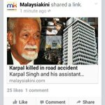 """@imokman: We lost a national hero this morning, we will always remember the Tiger of Jelutong @KarpalSinghDAP http://t.co/MgcpfhFRbh""RT"
