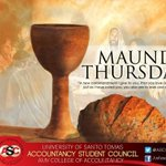 RT @ASC1415: Take time to reflect. Have a blessed Maundy Thursday everyone! http://t.co/2H52wv2Wfd