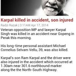 Condolences to Karpal Singhs family. http://t.co/BZC6FbKh8W