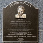 RT @Yankees: #Yankees honor Nelson Mandela with this plaque in Monument Park, unveiled as part of #JackieRobinsonDay ceremonies. http://t.co/3T9TwFz2Qm