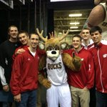 """@Bucks: Before the @BadgerMBB team takes the court, they pose with @BucksBango #MILvATL #OnWisconsin http://t.co/Hr8GS9XsGn"" Bucky=Jealous"