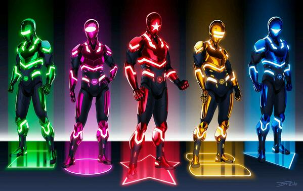 Zeo Rangers in the style of TRON - http://t.co/ThH54NORAp