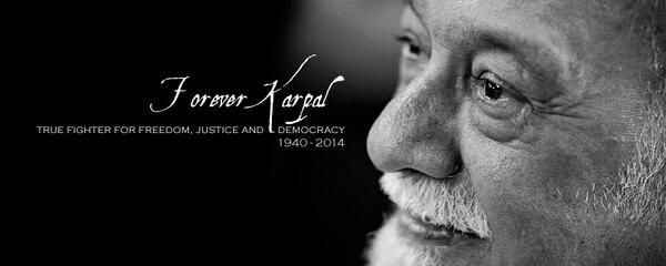 Mr Karpal, you will be missed. http://t.co/YzbEgwbUH2