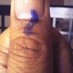 Exercised my right. Voted! #IndiaElections #Bangalore #BangaloreVotes http://t.co/2VkRpyyNaA