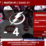 RT @CanadiensMTL: VICTOIRE! Les Canadiens mènent la série 1-0 / WIN! The Canadiens lead the series 1-0! #gohabsgo http://t.co/tYtXyEKCw6