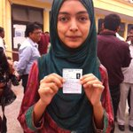 Rampurs first time voter Nida zehra says is voting for job and development. @ibnlive @ibncj http://t.co/M0vZUyTvhJ