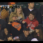 Coolest Orioles fan ever pulls a fast one on the Giants. http://t.co/2sXebDPCly