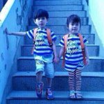 this little boy on the left saved his sister by giving his life jacket but now hes still missing #PrayForSouthKorea http://t.co/frJh9truzS