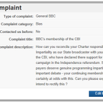 RT @billbanjos: BBC complaint about CBI membership submitted, get yours done = #Yes #IndyRef http://t.co/m0jcJfppj3
