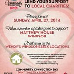 This Sunday, a portion of EVERY sale at our 7 #Windsor Essex locations will be donated to Matthew House Windsor! http://t.co/xsv0rXghsZ via