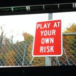 """We live in a country where this is a sign. Whose elses risk are you supposed to play at?!"" @ThisIsSethsBlog #ICON14 http://t.co/Vh8aXYB3IF"