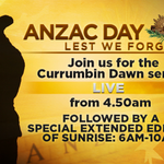 Join us tomorrow as we broadcast one of the nations most beautiful dawn services LIVE from Currumbin #anzacday http://t.co/9C8tDiGYP1