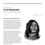 RT @JacaNews: #PublicProtector Madonsela named one of the most influential people in the world by #TimeMagazine #100MostInfluential http://t.co/fy2kbGxCbr