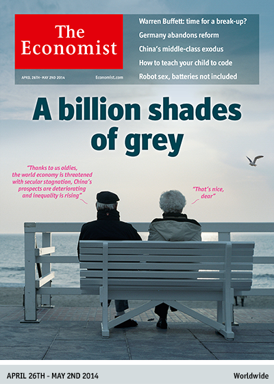 The Economist @TheEconomist: This week's cover preview: A billion shades of grey. April 26th – May 2nd 2014 http://t.co/UiPCcHtwOq