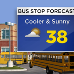 Sunny & cool for your little bumblebees as they head to school today. Nice at the #BusStop today #cowx http://t.co/wsk3NfsI3D