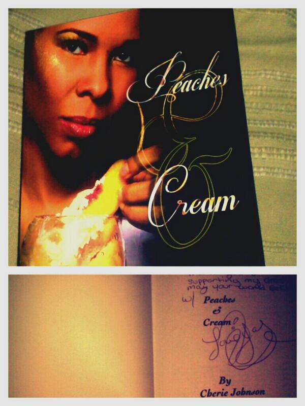 #TBT My signed copy of @cheriejohnson75 #PeachesandCream  #CherieJohnson  much love diva http://t.co/fxMyw5QJPD
