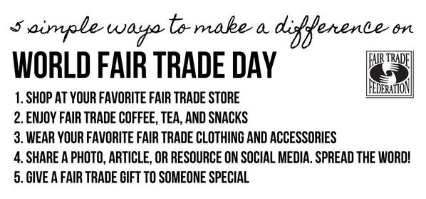5 simple ways to make a difference on #WorldFairTradeDay http://t.co/S6bsQQHjT9