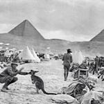 "RT @JasonMorrisonAU: ""Diggers & their mascot"". Camp Mena (near Cairo) c.1915 9th&10th Battalions AIF #lestweforget #ANZACDay2014 http://t.co/ifcduxls7q"
