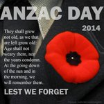 Its officially Anzac Day. Lest we forget.. http://t.co/FiMndRwfZ4