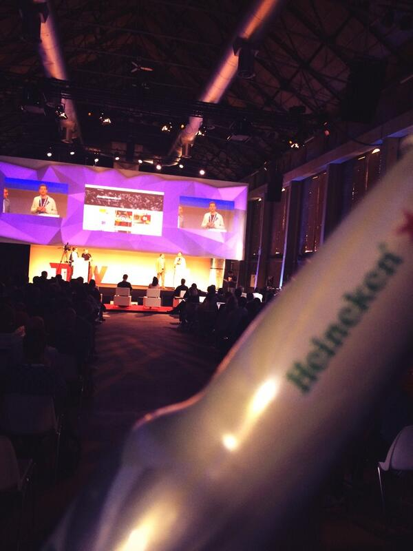 Can we get beers in the Blue Room. Hack Battle presentations = awesome!!  #TNWEurope 5 RTs = beers for all! http://t.co/YNG0b8FUMe