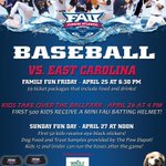 #OwlNation we have a big C-USA series starting tomorrow vs. ECU. Order your tickets today by calling 1-866-FAU-OWLS http://t.co/Gid8YvKFrR