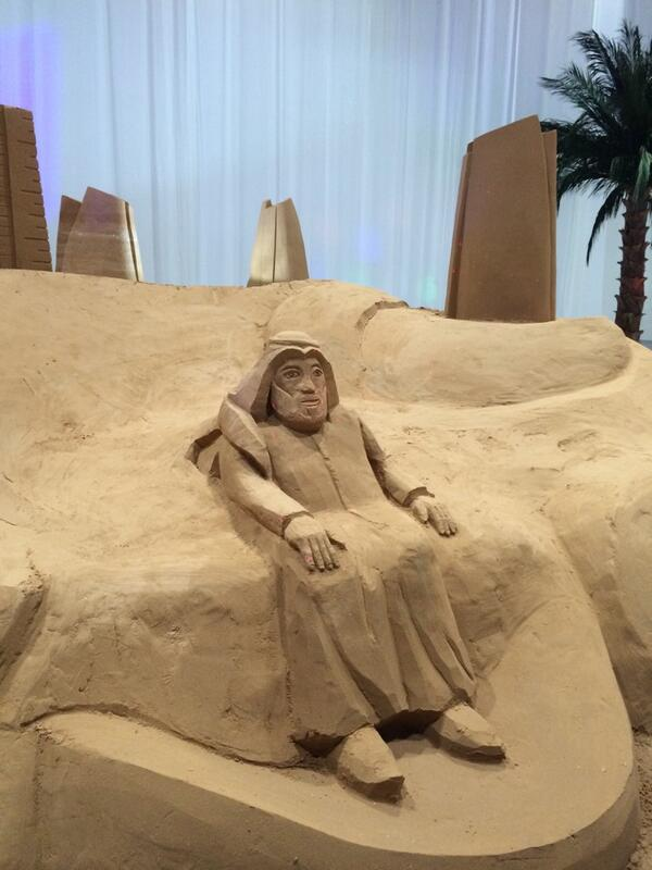 "Seriously? This is a.... ""Sandscape"" #cityscapeabudhabi my son could do better and the buildings are made out of clay http://t.co/OUfG0HQVzK"
