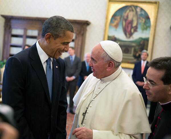 His message of love & inclusionis a tonic for a cynical age. Obama on @Pontifex:  #Time100