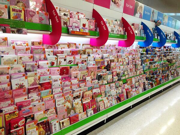 @LetToysBeToys Maybe cards next? This sea of pink + blue was @asda yesterday… http://t.co/rxSRUfBeTt