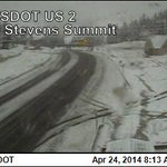 RT @wsdot: Its still spring, right? Today, Stevens Pass looks more like a winter throwback. @wsdot_passes Stevens: Snowing http://t.co/v2bfJMJetg