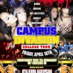 @ClubHush CAMPUS INVASION COLLEGE TOUR 2014 http://t.co/Zav9KtlCLS Everybody is free until midnight with college ID http://t.co/839Sv8TGQe