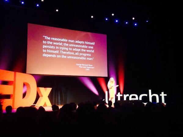 Ik mag eindelijk gewoon onredelijk zijn! #TEDxUtrecht http://t.co/VKMq4Y67k0