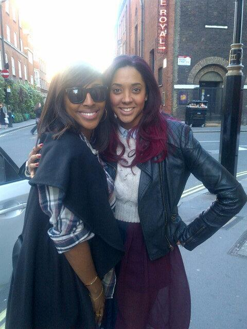 So lovely bumping into the beautiful @alexandramusic yesterday! Will always ♥ this lady. Bring it on #thebodyguard x http://t.co/wk6R4T7bIH