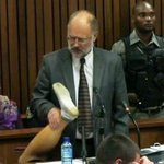 RT @ejcs: Roger Dixon holds #OscarPistoriuss prosthetic leg with dirty sock as he testifies RT @ewnreporter: #OscarTrial http://t.co/sDrNB3pmCt