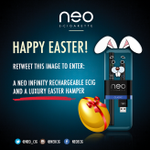 RT @Neo_Cig: Its #GoodFriday and our #Easter competition is still going strong! RT to enter :) http://t.co/0RlYcoW0iU