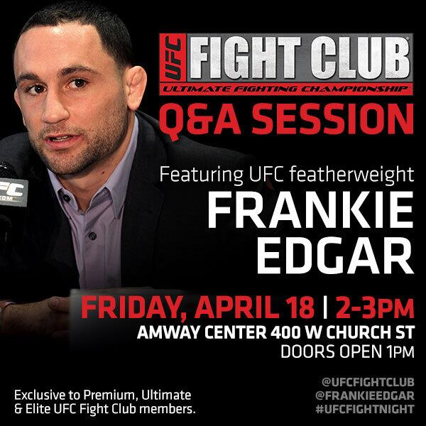 It's almost #FightClubFriday!! Who watched last night's premiere of #TUF19? With #TeamEdgar? Let him know at our Q&A! http://t.co/jy9issF5dX
