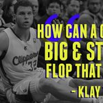 "Warriors G Klay Thompson says Blake Griffin tends to flop a little bit & reminds him of a ""bull in a china shop."" » http://t.co/I4ss8pJ12d"