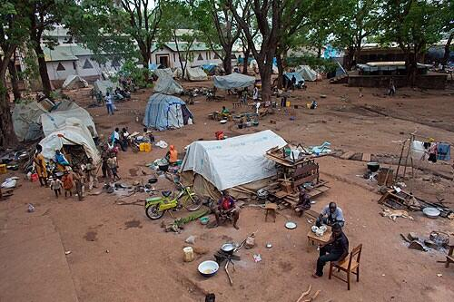 Now church IDP camp in Bossangoa is nearly empty. Dec2013 up to 35,000 people took refuge here. #CARcrisis ©Ton Koene http://t.co/wyOo1oLztv