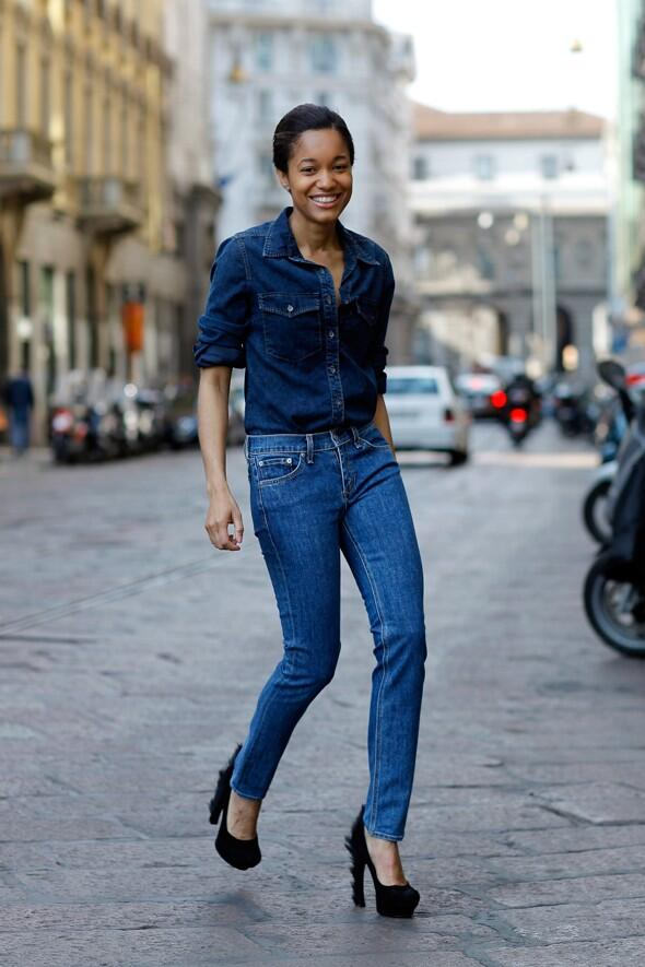 One of my favorite double-denim looks. Sometime back in 2011. #throwbackdenim #TBT http://t.co/UKprcq1PeT