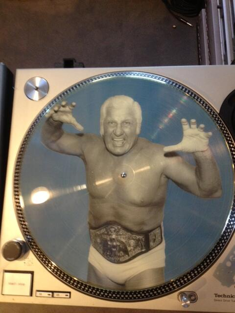 From waaaaaay out in left field, Freddie Blassie from the @LinBrehmer Picture Disc Collection