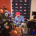 """I want to come back next season."" -- @carmeloanthony http://t.co/PWLM6twNia"