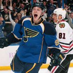 Someones excited to be back tonight. #WeAllBleedBlue http://t.co/ImZ6hQxYsy