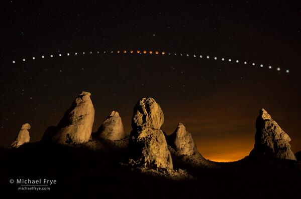 A search for good location to photograph the #lunareclipse led me to the Trona Pinnacles: http://t.co/E92oUWuRKV http://t.co/WgqndcvAL1