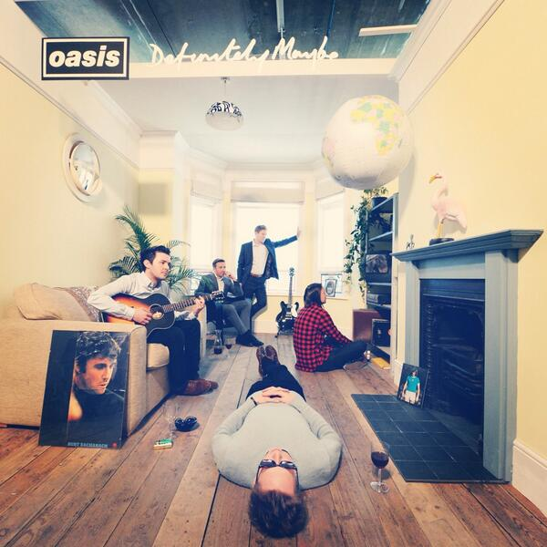 Check out @jamesdeadfamous being Noel Gallagher in the recreation of the Definitely Maybe album cover #oasis #metro http://t.co/sJhFlFr4JX