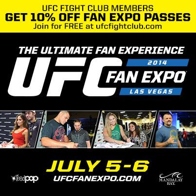 Who's coming to the @UFCFanExpo in July? Don't forget to use your discount code for special access to #UFCFightWeek! http://t.co/uJi7I5E9cR